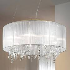 top 79 special silver mist hanging crystal drum shade chandelier large lamp shades for table lamps bedroom medium black white pendant light square