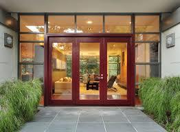 french front doorsModern Front Door with exterior tile floors  French doors in