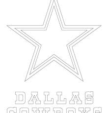 Dallas Cowboys Coloring Pages Nfl Logo Star Cowboy Football
