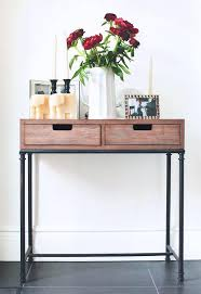 small hall table with drawers. Thin Console Table For Tv Narrow With Storage Buffet Server . Small Hall Drawers A