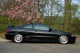 black acura integra jdm. black acura integra typer on bbs rs with red logos jdm b