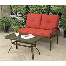 Amazon Giantex 2 Pcs Patio Outdoor LoveSeat Coffee Table Set