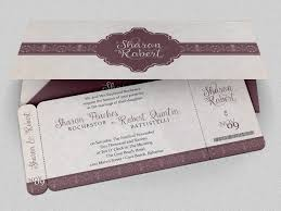 Wedding Boarding Pass Invitation Invitation Templates Creative