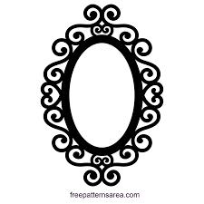 Embellished Silhouette Ornate Oval Frame Design