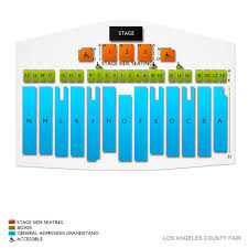 Los Angeles County Fair 2019 Seating Chart