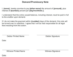 Promissory Note Templates Word Promissory Agreement Template Acentric Co