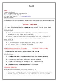 Resume Mechanical
