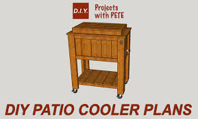 how to build a diy patio outdoor cooler