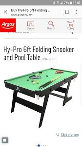 6ft snooker and pool table hardly used