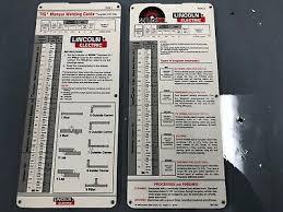 Lincoln Tig Welding Slide Chart Ebay