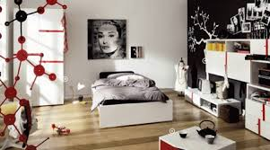 Teenage Bedroom Designs Black And White Design In Red Modern Ideas
