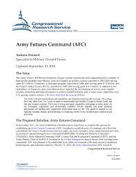 Army Futures Command Afc Everycrsreport Com