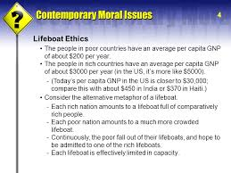 i i world hunger poverty hardin s central argument garrett  4 lifeboat ethics the people in poor countries have an average per capita gnp of about