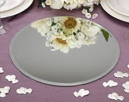 wedding table centerpiece round mirror plate glass plate bevelled edge 4