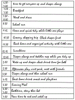 Toddler Schedule Chart Schedule For Toddlers Free Preschool Printables 10