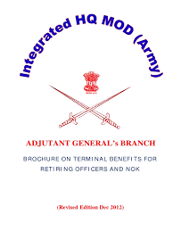 Brochure On Terminal Benefits For Army Officers Pension Military