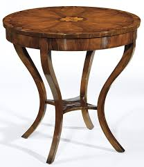 occasional table carved wood table biedermeier style round carved wood table