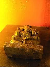 carved wood wall panel hindu elephant