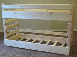 diy bunk bed frame
