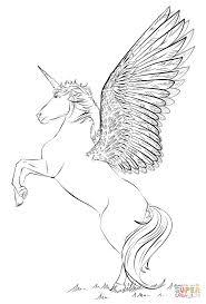 Disegno Di Unicorno Con Ali Da Colorare Disegni Da Colorare E Con
