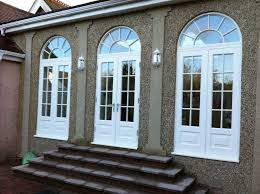 hardwood french door arch painted white oak arched doors d60