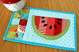 Summer Watermelon Mug Rug | Summer, Patterns and Easy & Summer Watermelon Mug Rug. PlacematMug Rug PatternsQuilting ... Adamdwight.com