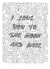 Each sheet shows the importance of god's love. I Love You To The Moon And Back Coloring Page Etsy