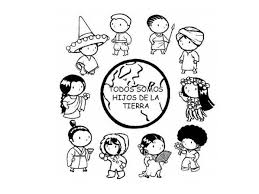 Small Picture Diversity and culture coloring page Kiddo Crafts Pinterest