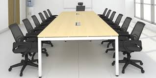 conference table with metal legs
