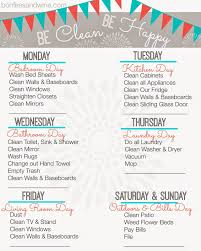 cleaning schedule printable weekly cleaning schedule free printable home organization