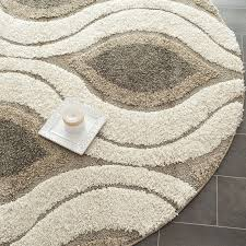 6 foot round area rug rugs safavieh florida collection sg461 1179 cream and