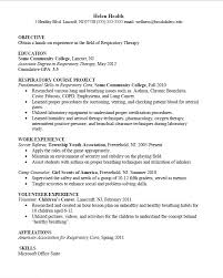 respiratory therapist student resume examples registered objective ...