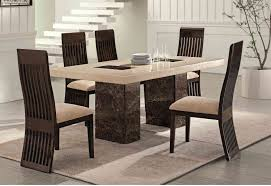 ... Dining Room Table, Cool White Rectangle Marble Unique Dining Tables  With 5 Chairs Ideas: ...