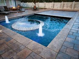 Rectangle pool Spas In Recessed Mechanism Rectangle Coverpools Photo Gallery Coverpools