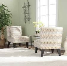 two modern accent chairs for living room