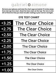 27 Explicit Reading Glasses Test Chart