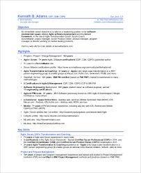 sample scrum master resume 8 examples in pdf scrum master resume