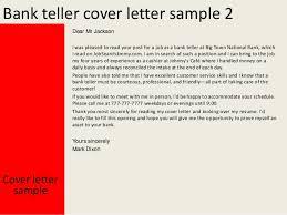 Bank Teller Cover Letter Photo Album For Website Banking Customer