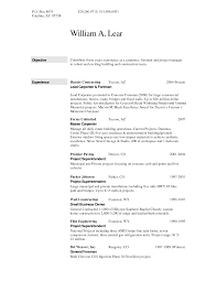 Resume For Construction Workers Construction Inspectoroffice