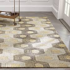 Crate and Barrel Exclusive. Gramercy Hexagon Pattern Rug
