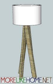 With a simple light kit you can turn a few 2x4s into a cool floor lamp! The  legs put the fun in