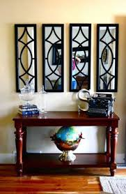 foyer console table and mirror. Retrieve Foyer Decorating Ideas With Stained Console Table And Mirrors Picture Mirror