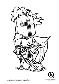 Chevalier Au Moyen Ge Coloriage Quelle Histoire Editions