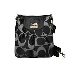 Coach Logo C Monogram Small Black Crossbody Bags EQS