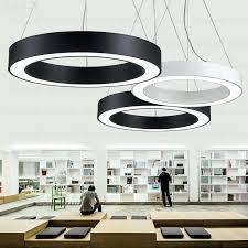 circular pendant light circle round large ring