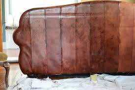 how to paint leather furniture dye leather chair