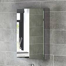 600 x 400 Stainless Steel Bathroom Mirror Cabinet Modern Single