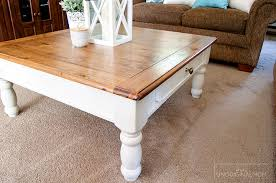 farmhouse style coffee table in makeover unoriginal mom plan 11