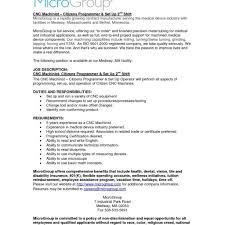 Contract Operator Sample Resume Machinist Resume Template Cnc Manual Sample Of Skills Operator 23