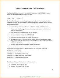 Fast Food Manager Resume Fresh Best Sample Of Summary For